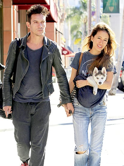 Jonathan Rhys Meyers Makes Rare Appearance Out in Los Angeles With Fiancée