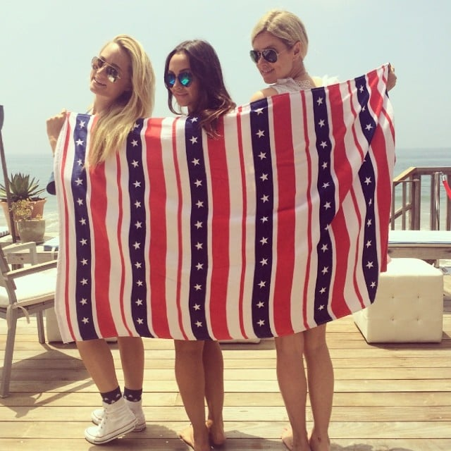 Nicky Hilton showed off her patriotic side at a party in Malibu, CA. Source: Instagram user nickyhilton