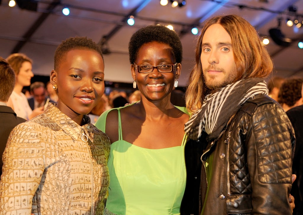 """Jared posed with Lupita Nyong'o and her mom, Dorothy, at the Independent Spirit Awards — he later went on to call Lupita his """"future ex-wife"""" during his acceptance speech!"""