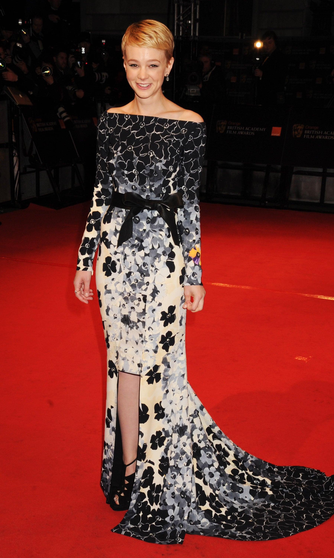 Carey Mulligan in Floral Vionnet at the 2010 BAFTAs