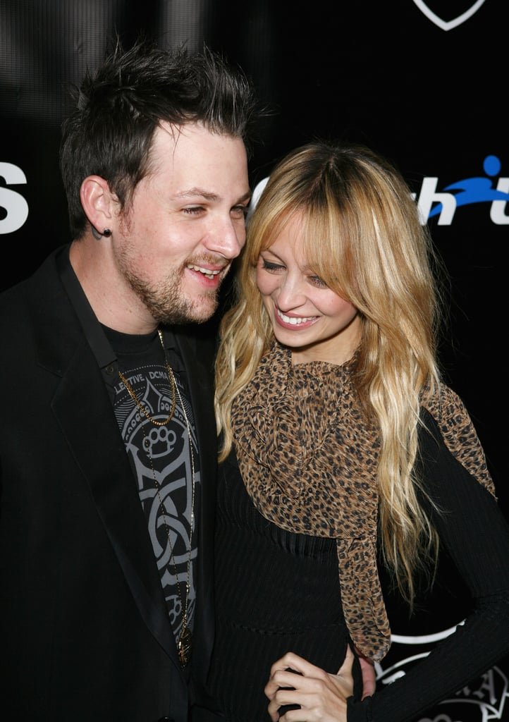 Nicole Richie and Joel Madden smiled during a December 2008 event in LA.