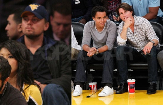 Pictures of Tom Cruise And Leonardo DiCaprio at a Lakers Game in LA 2010-05-20 08:45:00