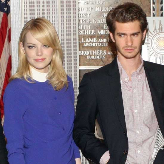 Emma Stone and Andrew Garfield Pictures at Empire State