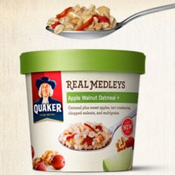 Quaker Real Medleys Apple Walnut Oatmeal+