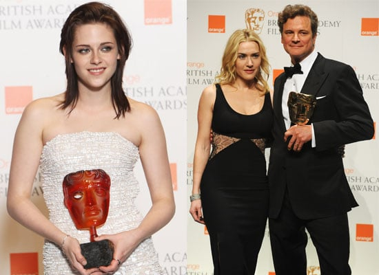 Photos from the Press Room Plus Full List of Winners from the BAFTA Awards 2010 Including Winners Kristen Stewart & Colin Firth 2010-02-21 13:50:11