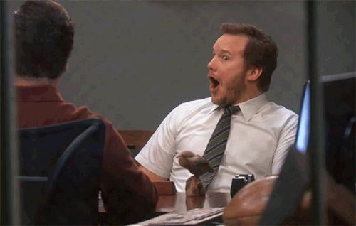 Chris has the ultimate GIF-able moments.