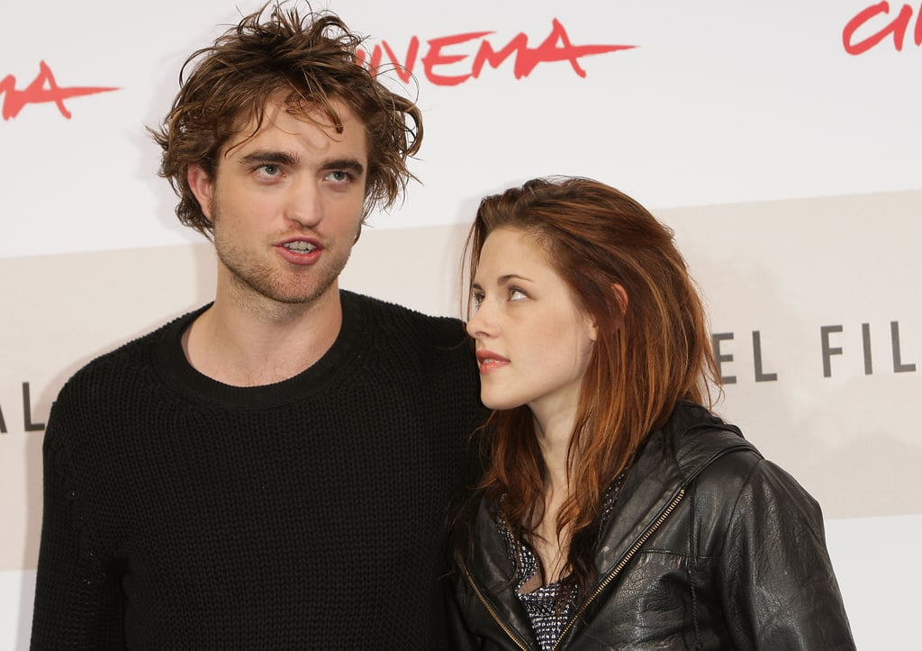 Robert Pattinson and Kristen Stewart attended a photocall at the Rome International Film Festival in October 2008.