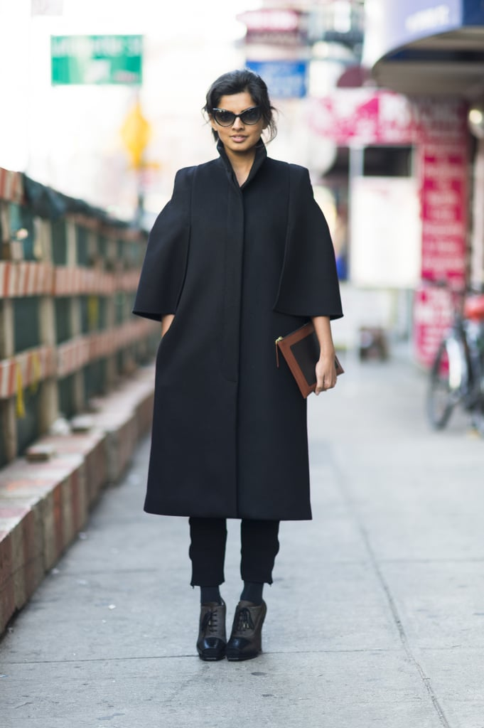 Sometimes it's just about one amazing piece (or in this case, two); this styler's coat and sunglasses make the look. Source: Adam Katz Sinding