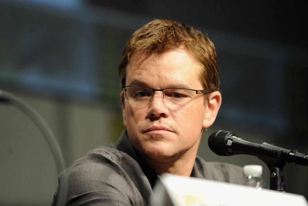Matt Damon spoke during Sony's Eylsium panel during Comic-Con at San Diego.