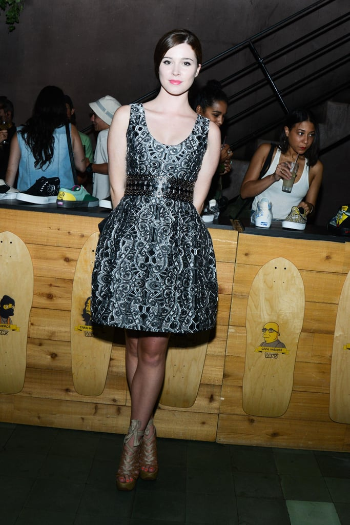 Nell Diamond feted Vans in a pretty cocktail dress at NYC's The Park.