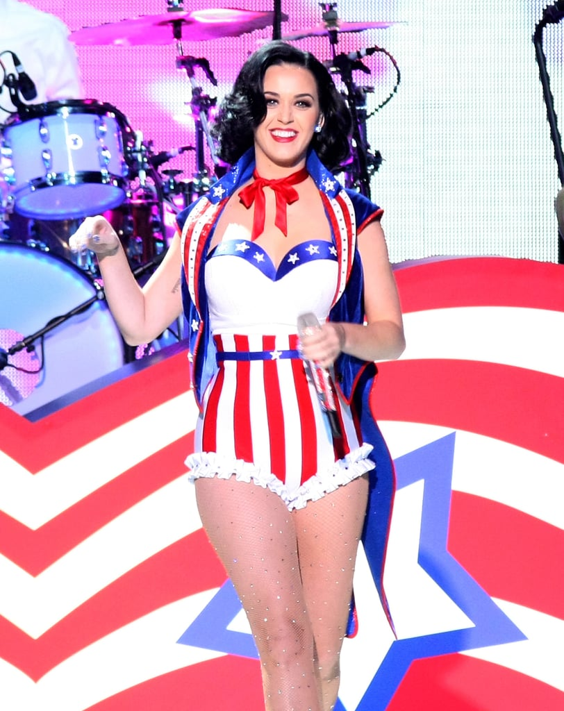 Katy Perry took the stage in red, white, and blue for the Kids' Inaugural Concert in Washington DC in January 2013.