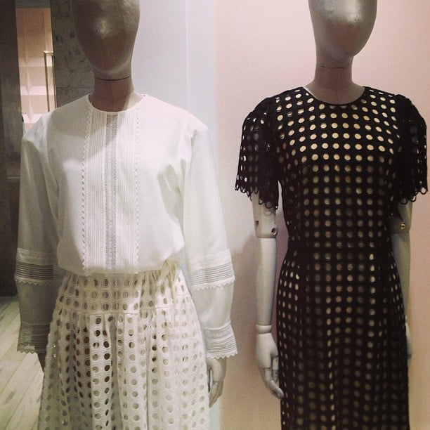 The best-dressed mannequin award goes to this pair of Chloé statuettes.