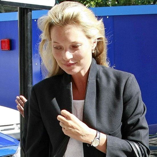Kate Moss Pictures on Her Way to a London Meeting