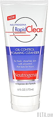 Review of Neutrogena Rapid Clear Oil Control Foaming Cleanser