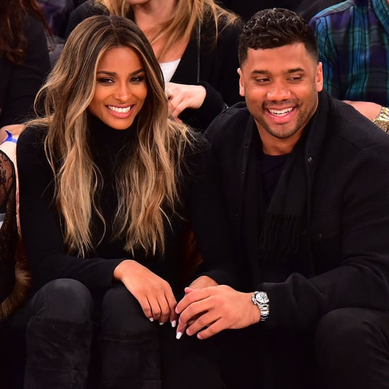 Ciara and Russell Wilson at Knicks Game February 2016