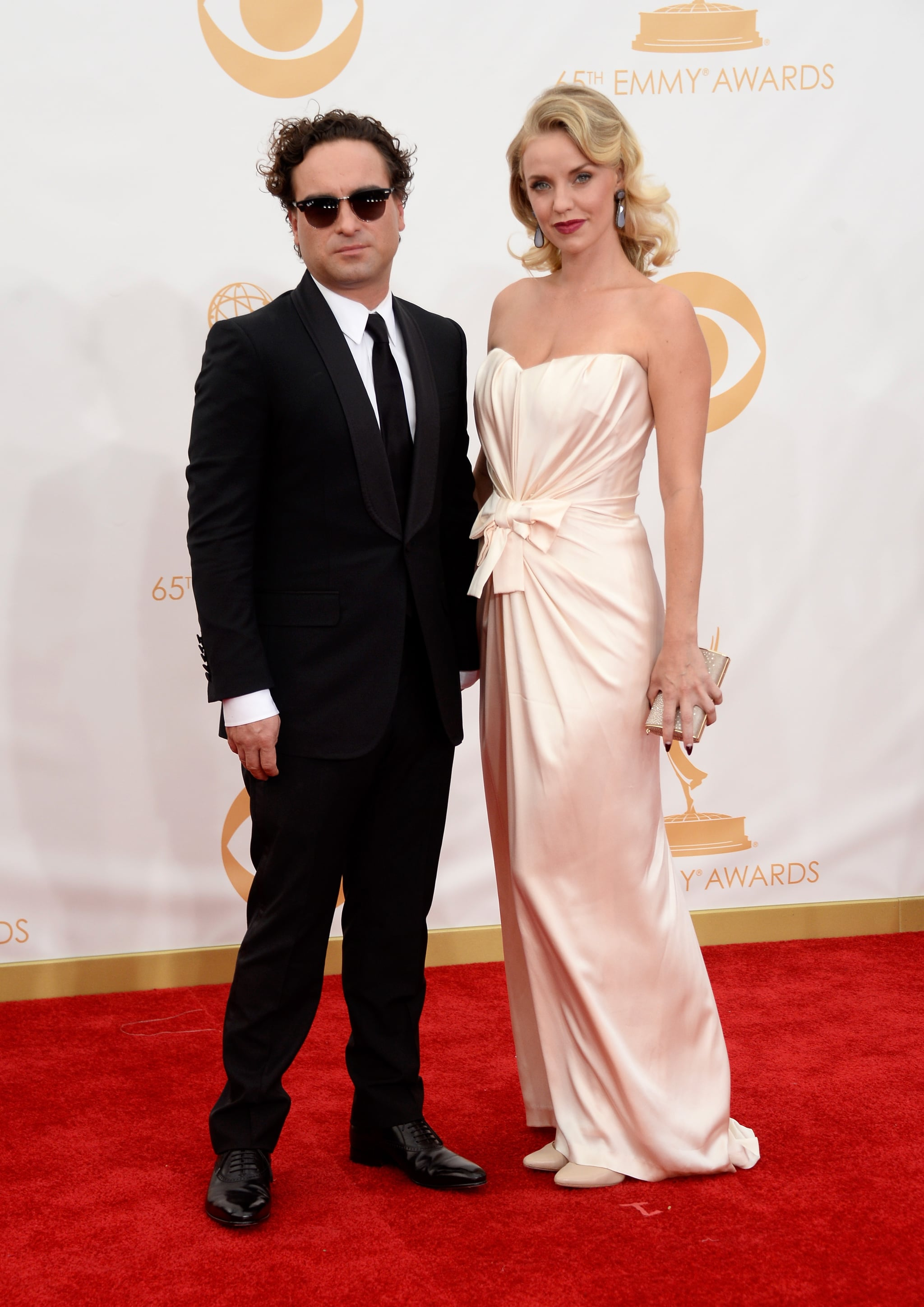 Johnny Galecki and Kelli Garner attended the Emmys.