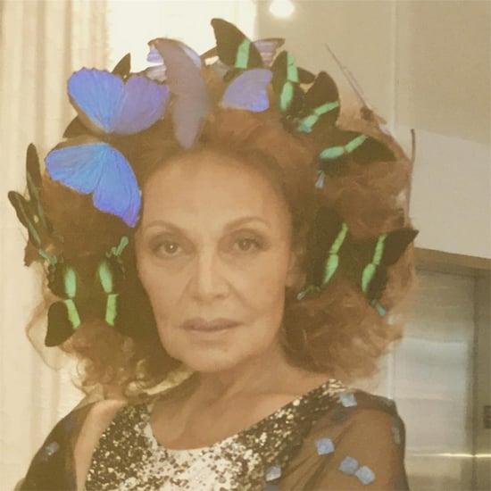 Move Over SJP! Diane von Furstenberg Wears Butterflies in Her Hair to the Met Gala