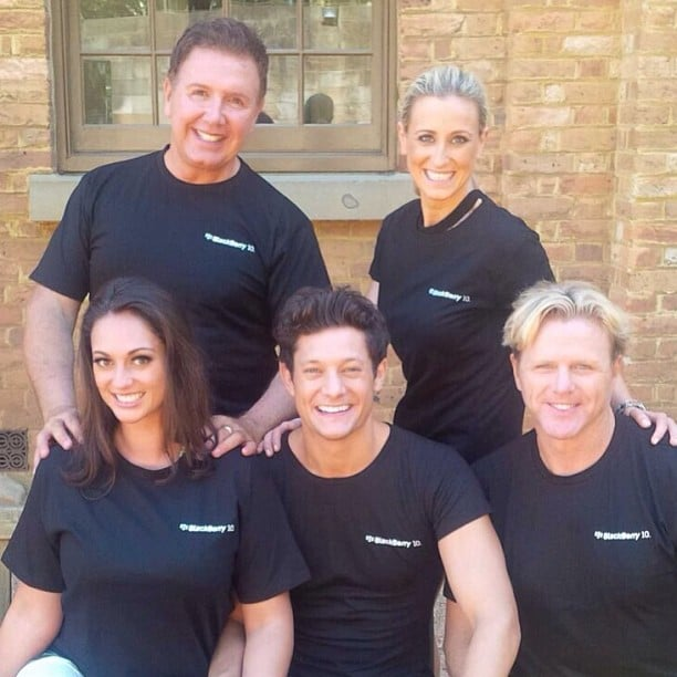 Layla Subritzky, Peter Everett, Rob Mills, Roxy Jacenko and Dermott Brereton were on a team for one of the challenges. Source: Instagram user sweatybettypr