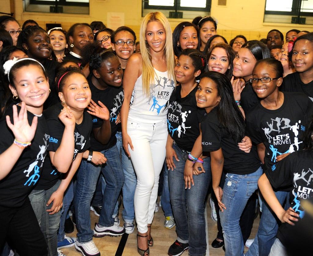 When Beyoncé Promoted Michelle's Let's Move! Campaign