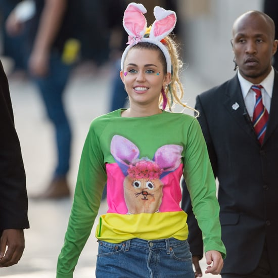 Miley Cyrus Outfit on Jimmy Kimmel Live 2015