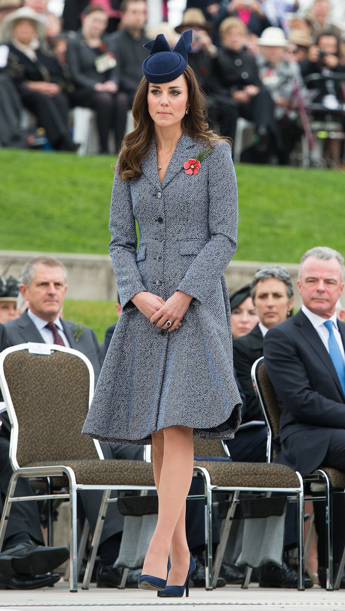Kate Middleton at the Australian War Memorial in 2014