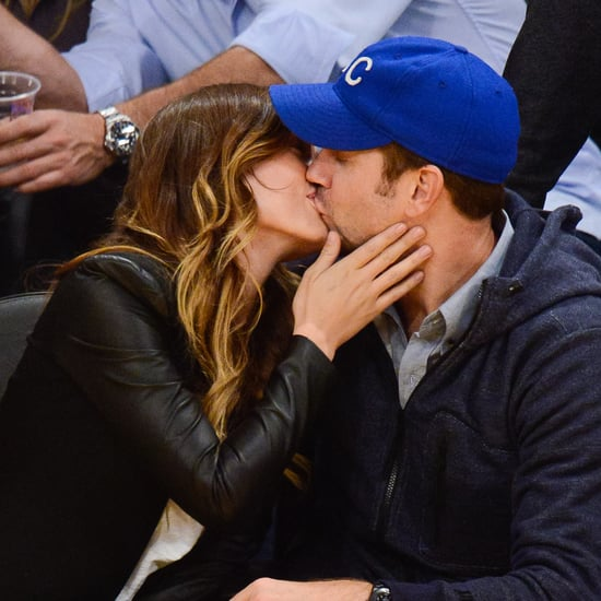 Olivia Wilde and Jason Sudeikis Kissing at Lakers Game