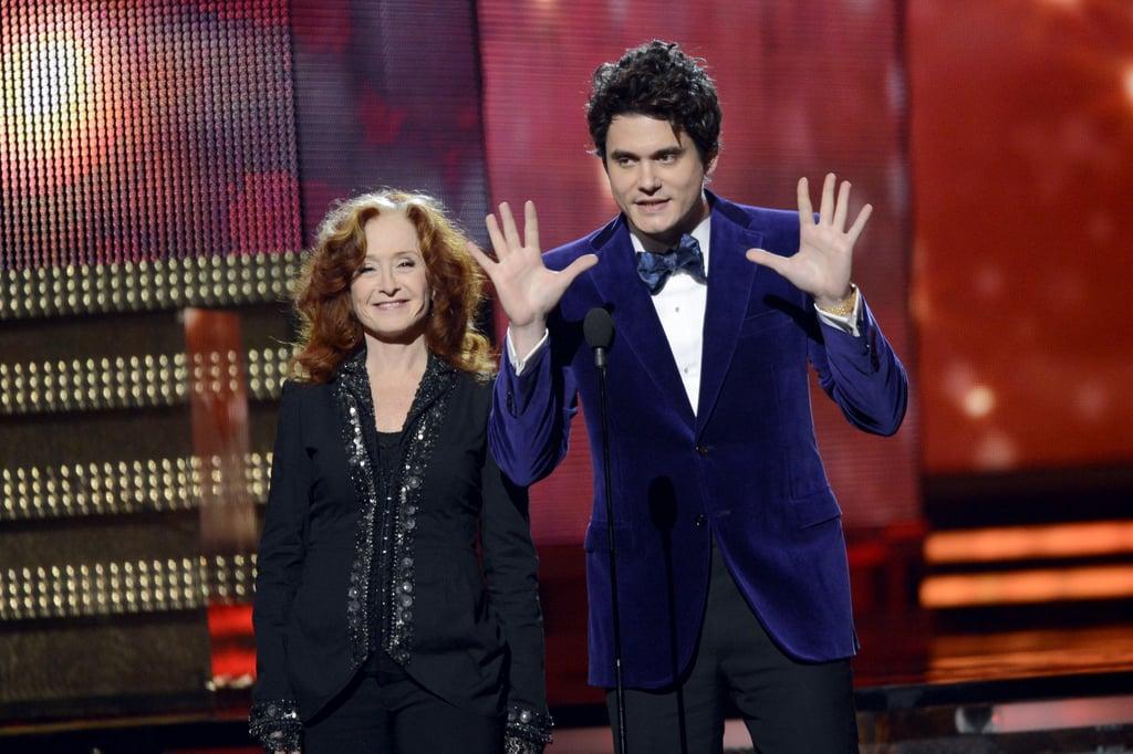 Bonnie Raitt and John Mayer presented together at the Grammys.