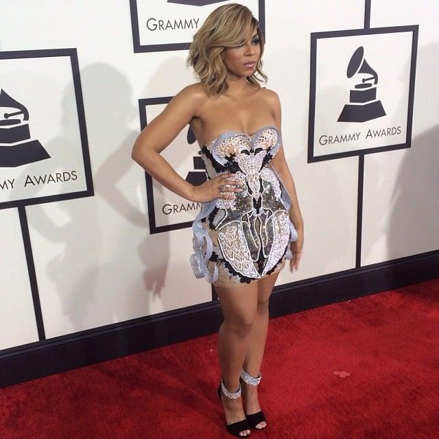 Ashanti struck a pose on the Grammys red carpet. Source: Instagram user ashanti