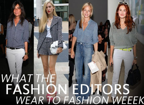 Pictures of the Fashion Editors on the Front Row at 2011 New York Fashion Week: See What the Style Set Wear!
