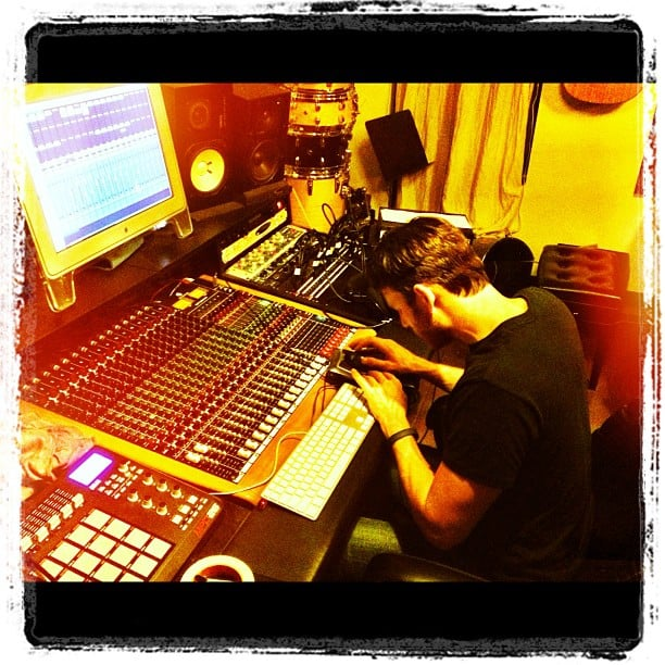 Bryan Greenberg worked in the recording studio. Source: Instagram user bryangreenberg