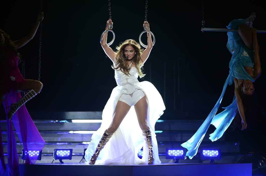 Jennifer Lopez heated up the stage during her performance for the American Idol finale.