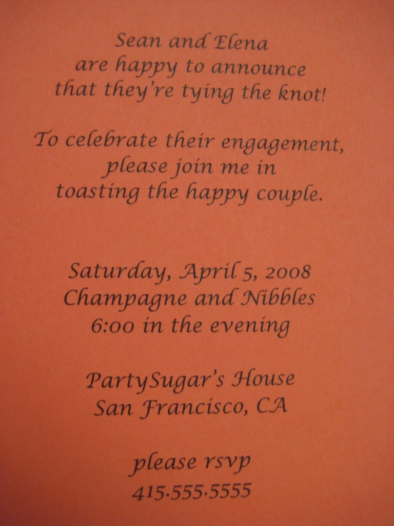 Engagement Party Invite: Step by Step