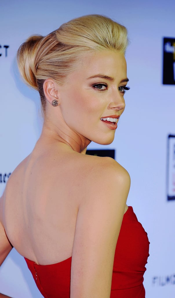 Amber Heard showed off her up-do at The Rum Diary premiere in LA.