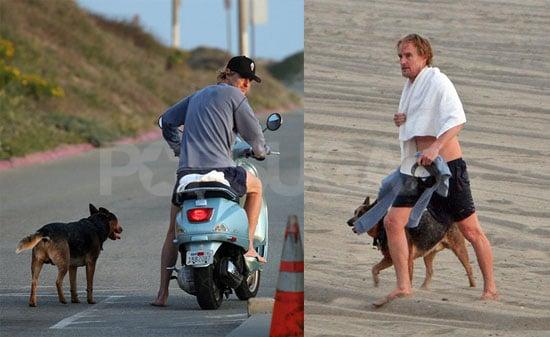 Owen Vespas to Exercise the Dog