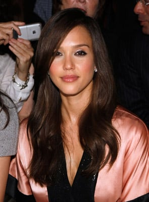 Jessica Alba at the Spring 2009 Narciso Rodriguez Show