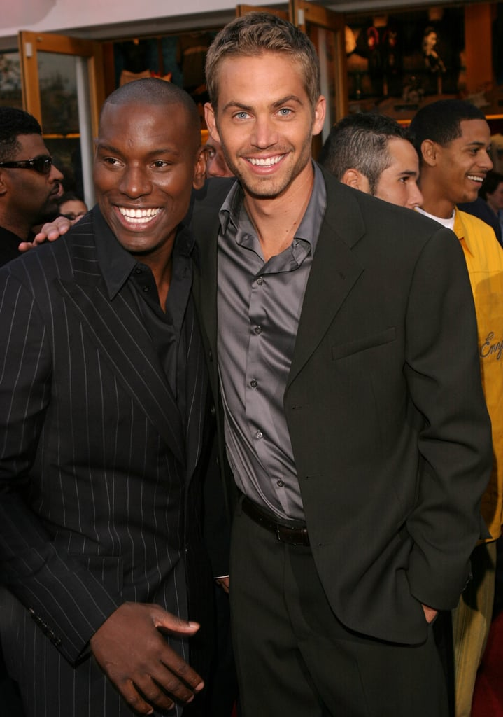 He posed with Tyrese Gibson at the LA premiere of 2 Fast 2 Furious in June 2003.