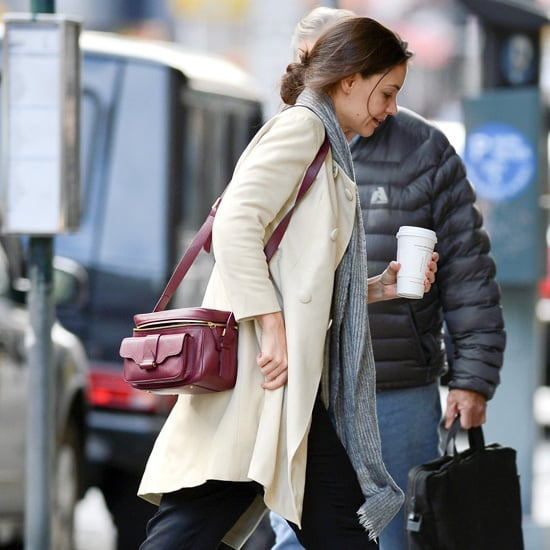 Katie Holmes Red Camera Bag