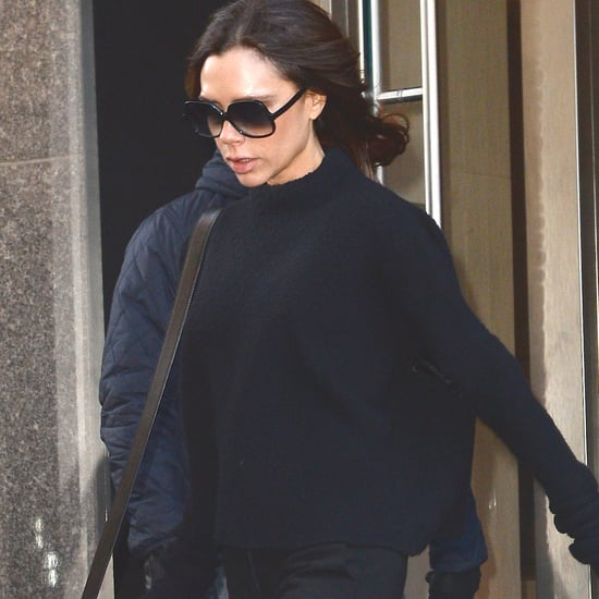 Victoria Beckham Wears Light-Up Flat Sneakers
