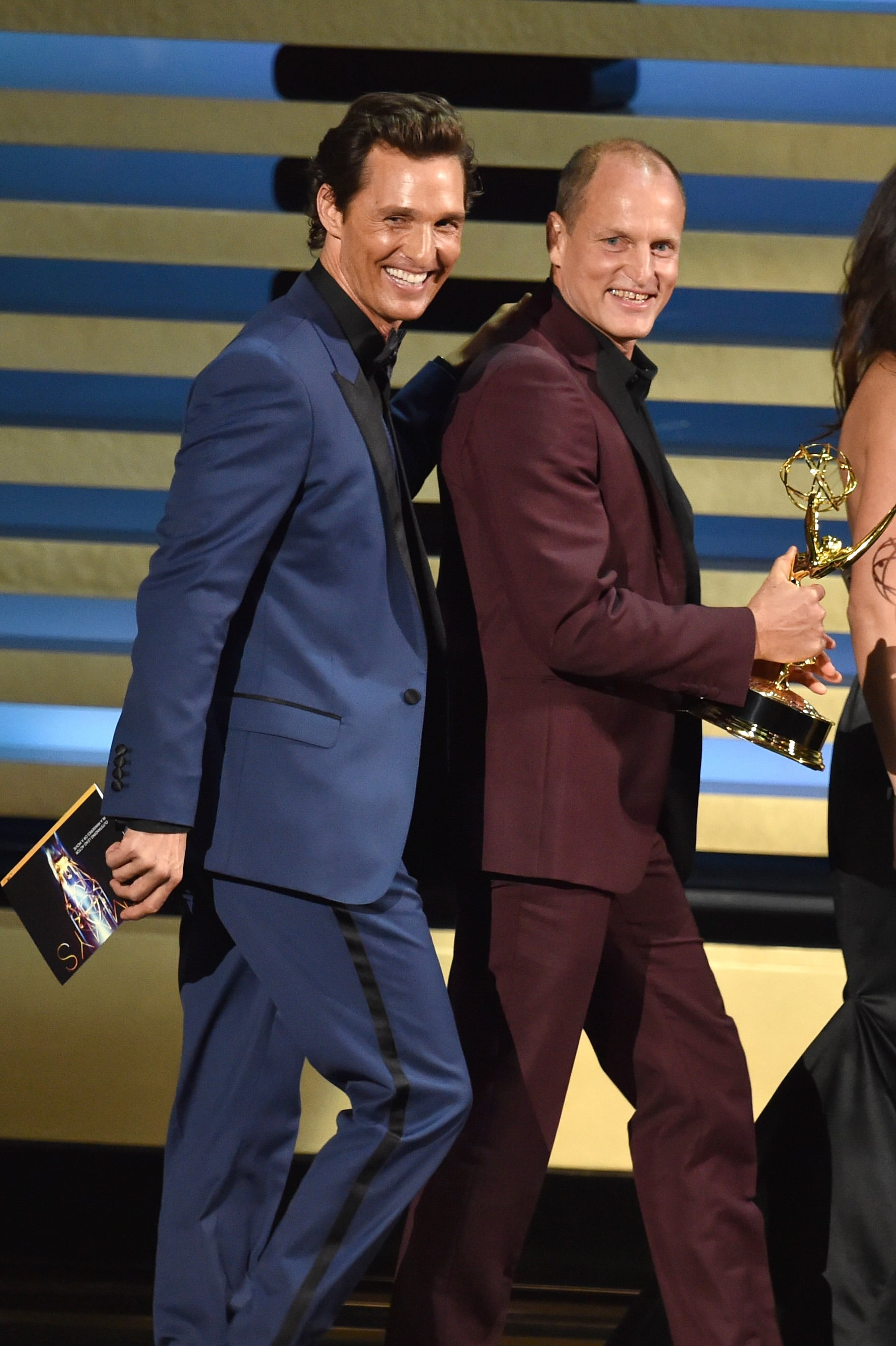 Matthew McConaughey and Woody Harrelson were in their comfort zone when they presented together.
