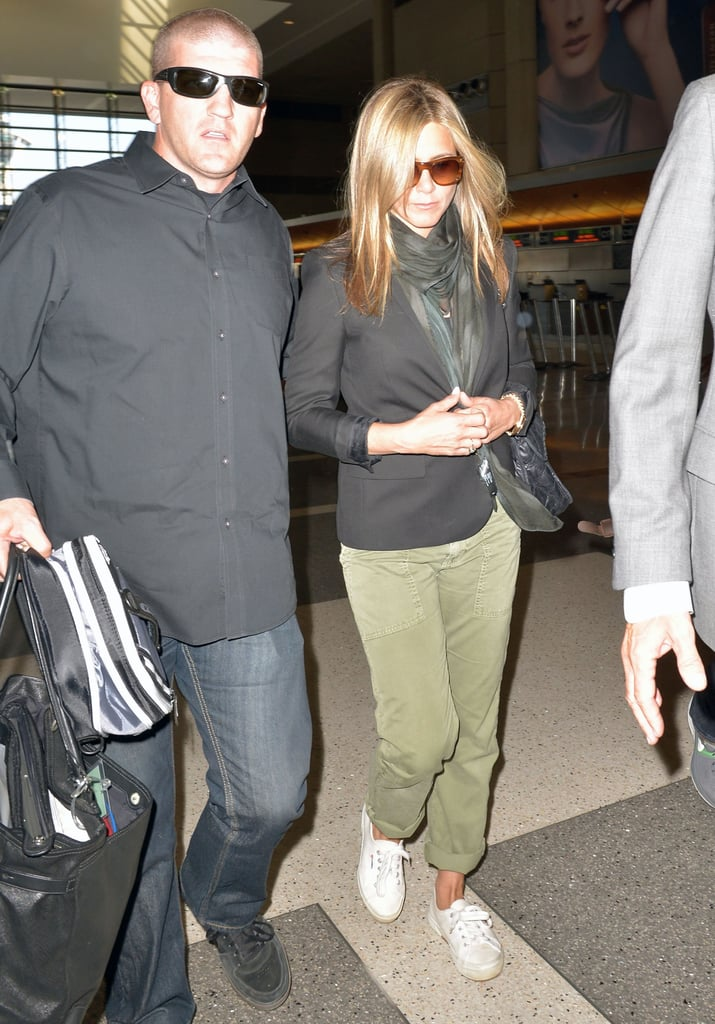 Jennifer Aniston made her way through LAX airport.