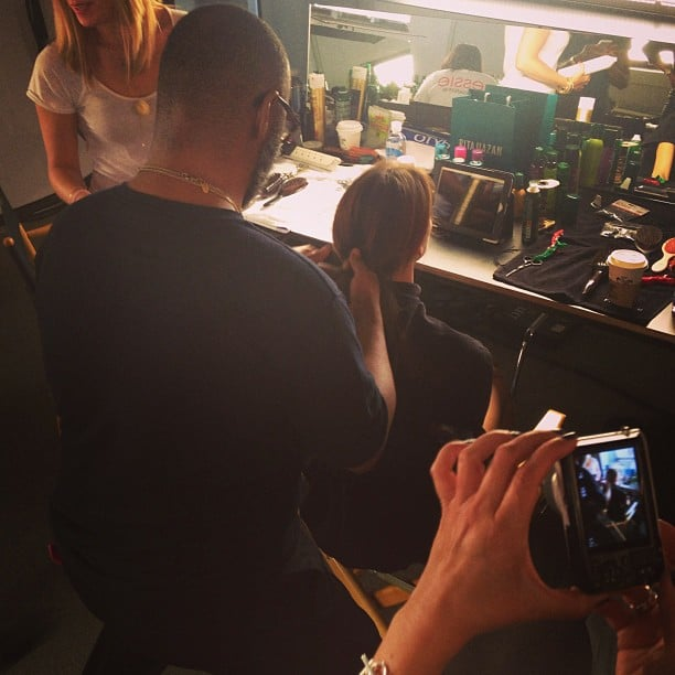 We brushed up on our braiding skills with the Rita Hazan team backstage at Costello Tagliapietra.