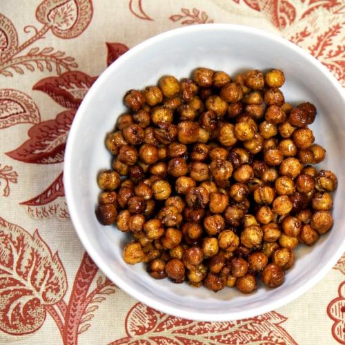 Honey-Roasted Cinnamon Chickpeas