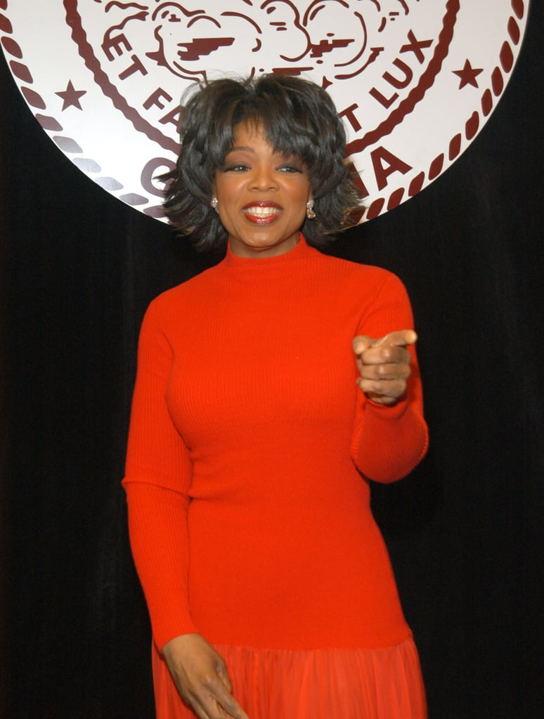Oprah smiled at a 2004 event for Morehouse College.