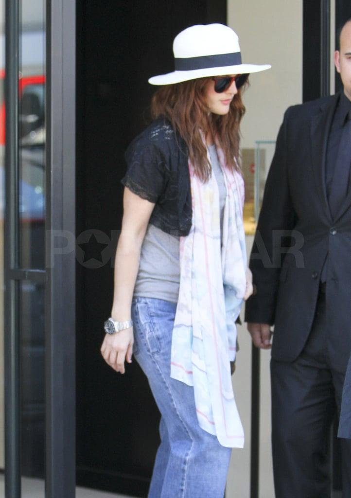 Drew Barrymore Shops Solo at Chanel