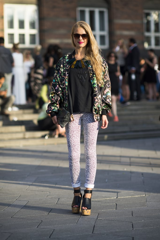 Proof that bold print mixing — and bold accessories — have big payoff.  Source: Le 21ème | Adam Katz Sinding
