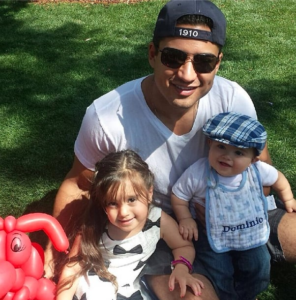Mario Lopez With Gia and Dominic