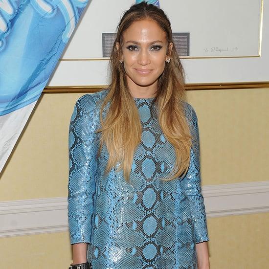 Jennifer Lopez's Matching Blue Outfit