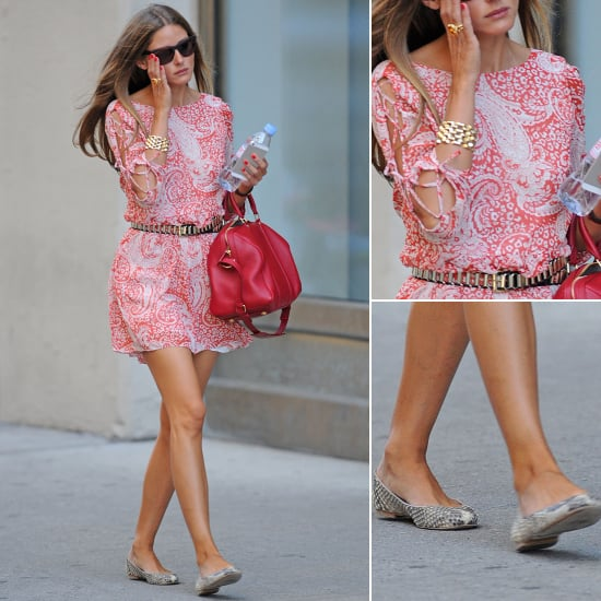 Olivia Palermo's Red ASOS Dress | Street Style