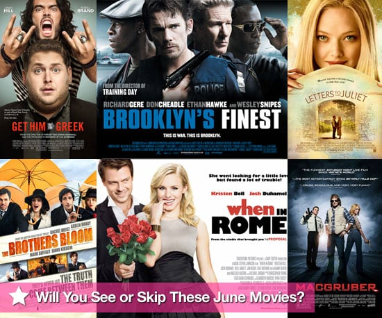 Movies Films Released at UK Cinemas in June 2010 Including Get Him to the Greek and Letters to Juliet