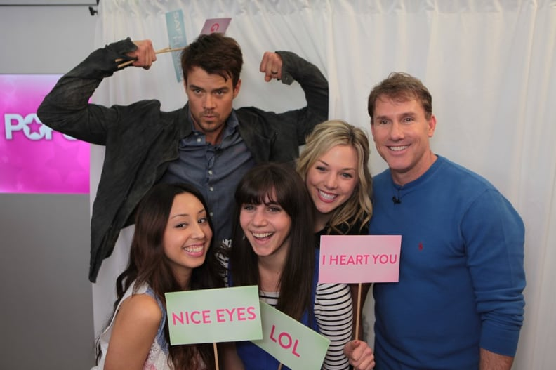Josh Duhamel and Nicholas Sparks swung by our SF offices to talk about their movie Safe Haven — and to pose for photos!